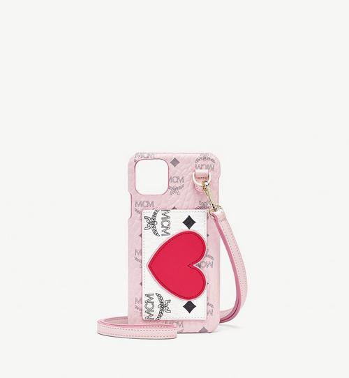 Visetos 混搭皮革 Valentine iPhone 11 Pro Max 手機保護套