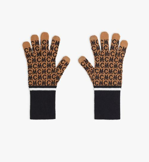 MCM Monogram Wool Gloves
