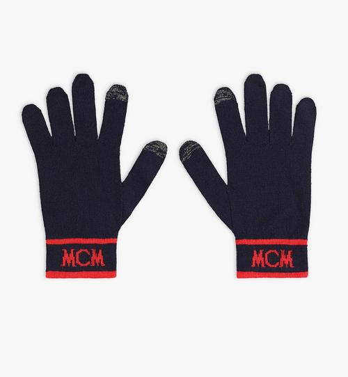Intarsia Logo Wool Gloves