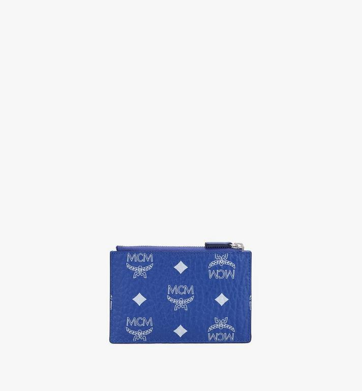 MCM กระเป๋าเพาช์ใส่กุญแจลาย Visetos Blue MXKASVI01H1001 Alternate View 2