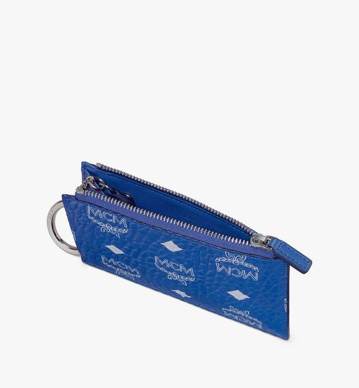 MCM Key Pouch in Visetos Blue MXKASVI01H1001 Alternate View 3