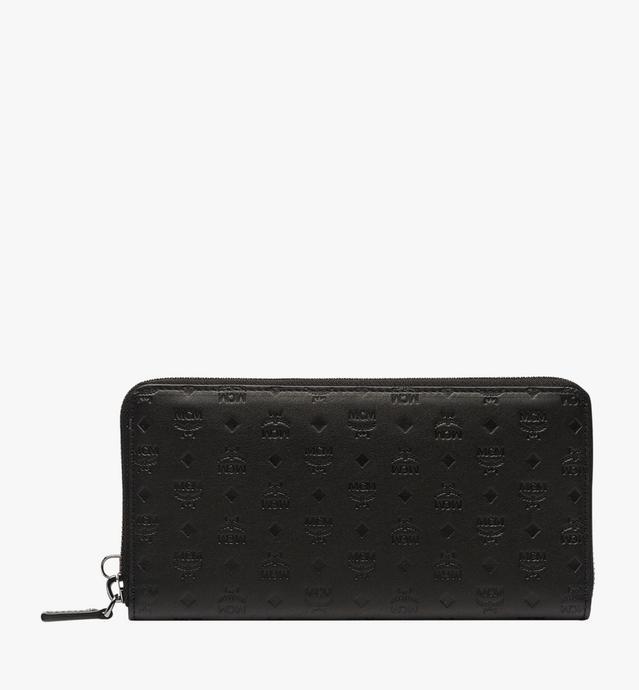 Sigmund Brieftasche mit Rundum-Reißverschluss aus Leder mit Monogramm
