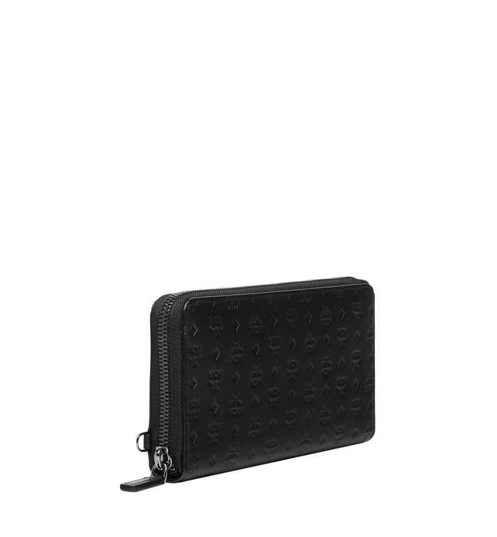 MCM Sigmund Zip Around Wallet in Monogram Leather Black MXL6AIE25BK001 Alternate View 2