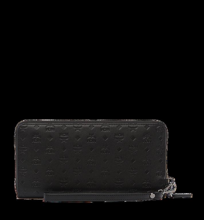 MCM Sigmund Zip Around Wallet in Monogram Leather Black MXL6AIE25BK001 Alternate View 3