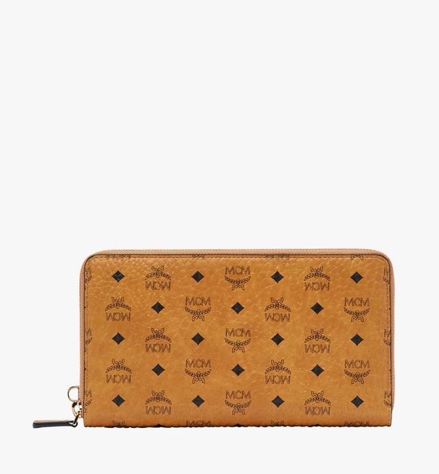 Zip Around Passport Wristlet Wallet in Visetos