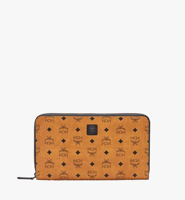 MCM Travel Collection Passport Wallet