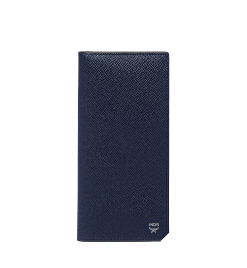 New Bric Long Bifold Wallet in Embossed Leather