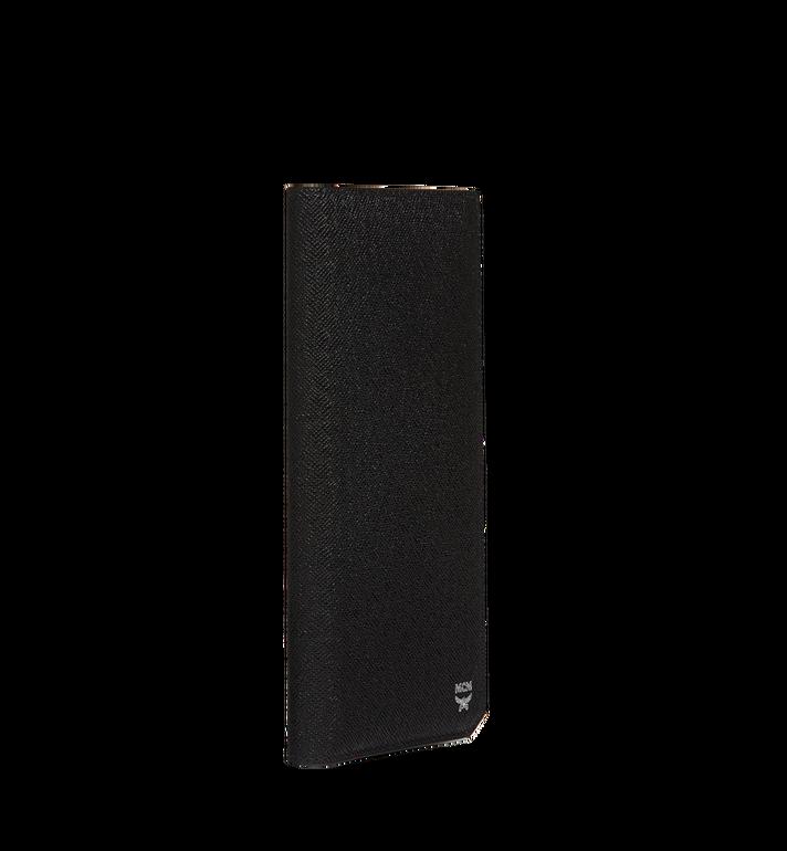 MCM กระเป๋าสตางค์พับสองทบแบบยาว New Bric ทำจากหนังอัดลาย Black MXL8ALL50BK001 Alternate View 2