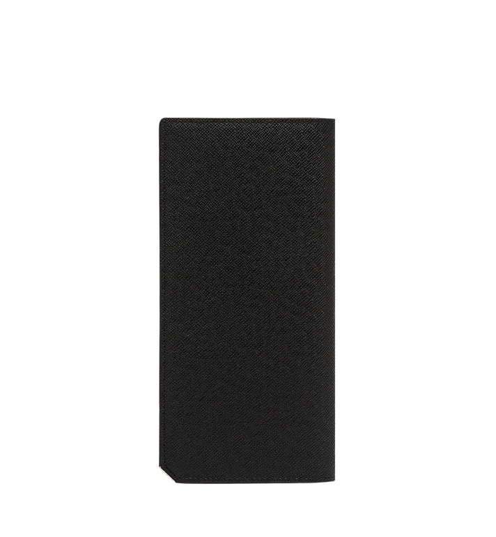 MCM กระเป๋าสตางค์พับสองทบแบบยาว New Bric ทำจากหนังอัดลาย Black MXL8ALL50BK001 Alternate View 3