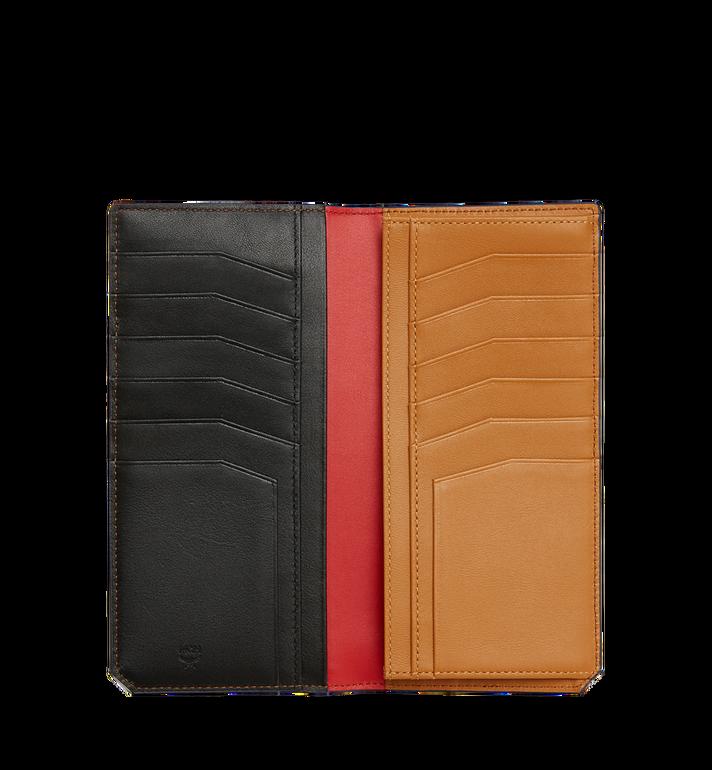 MCM กระเป๋าสตางค์พับสองทบแบบยาว New Bric ทำจากหนังอัดลาย Black MXL8ALL50BK001 Alternate View 4