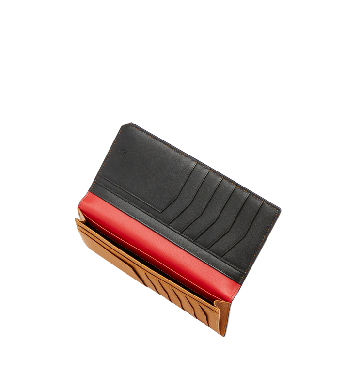MCM กระเป๋าสตางค์พับสองทบแบบยาว New Bric ทำจากหนังอัดลาย Black MXL8ALL50BK001 Alternate View 5