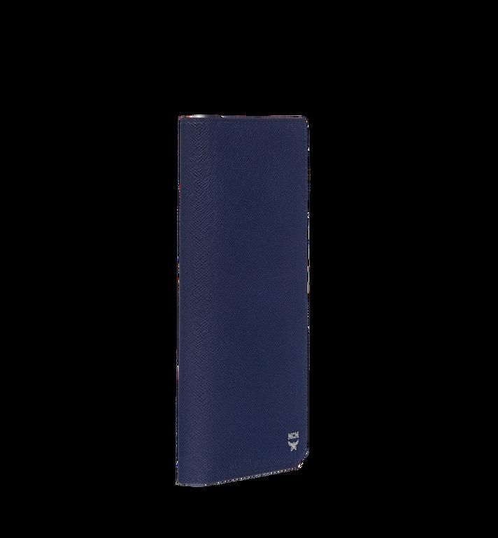 MCM กระเป๋าสตางค์พับสองทบแบบยาว New Bric ทำจากหนังอัดลาย Navy MXL8ALL50VY001 Alternate View 2