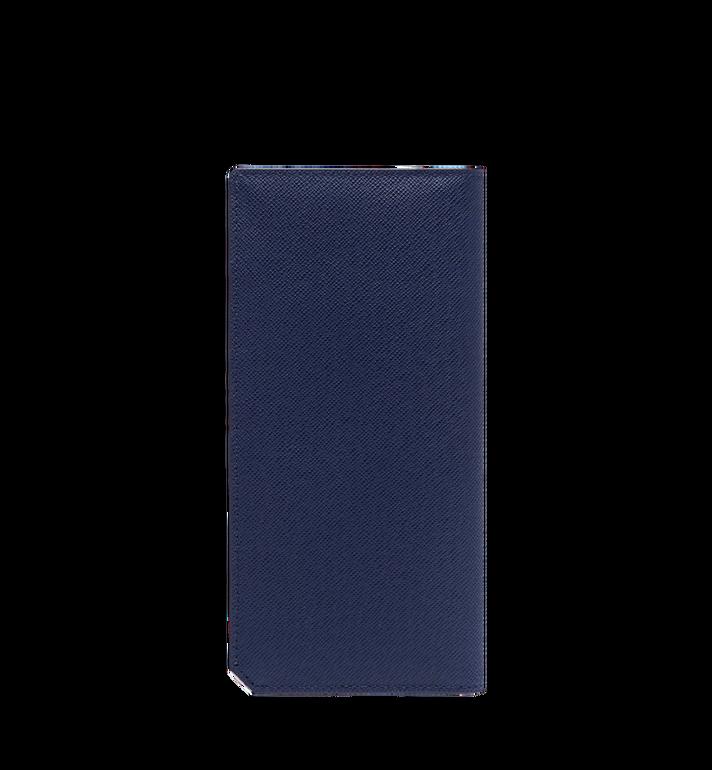 MCM กระเป๋าสตางค์พับสองทบแบบยาว New Bric ทำจากหนังอัดลาย Navy MXL8ALL50VY001 Alternate View 3