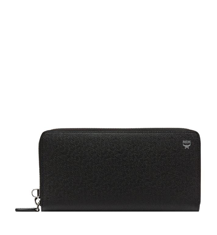 MCM New Bric Zip Wallet with Wrist Strap in Embossed Leather Alternate View