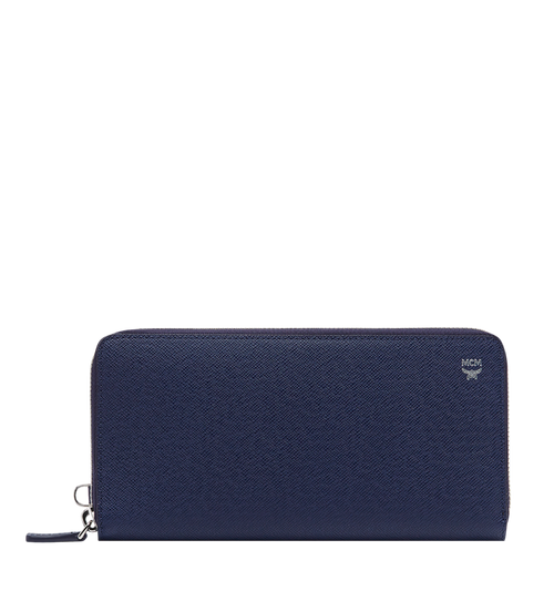 New Bric Zip Wallet with Wrist Strap in Embossed Leather