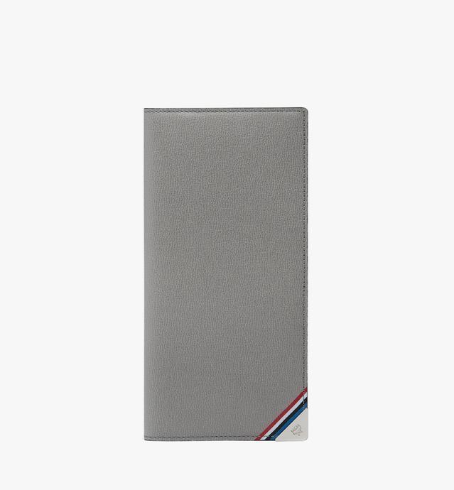 Coburg Long Bifold Wallet in Stripe Print Leather