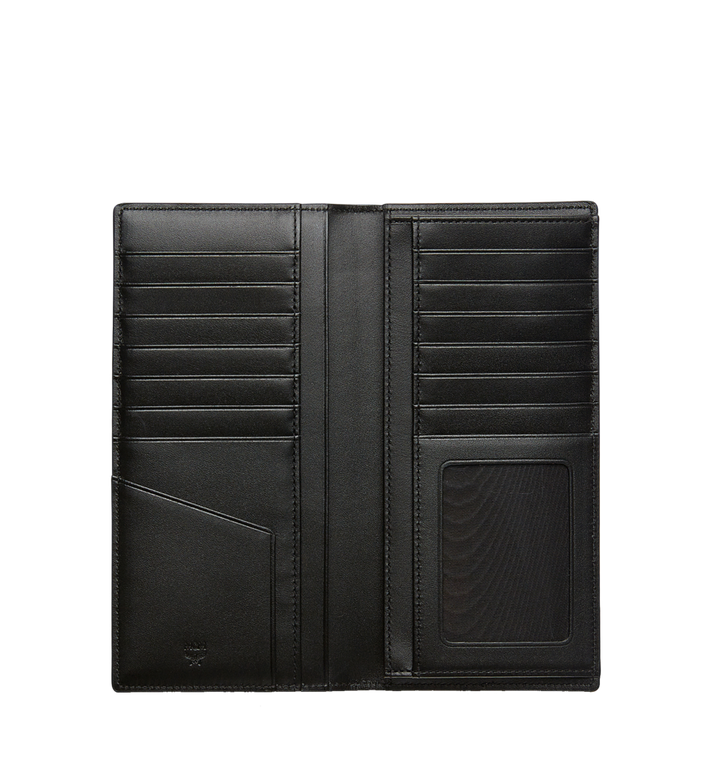 MCM กระเป๋าสตางค์พับสองทบแบบยาวลาย Visetos Original Black MXL8SVI70BK001 Alternate View 4