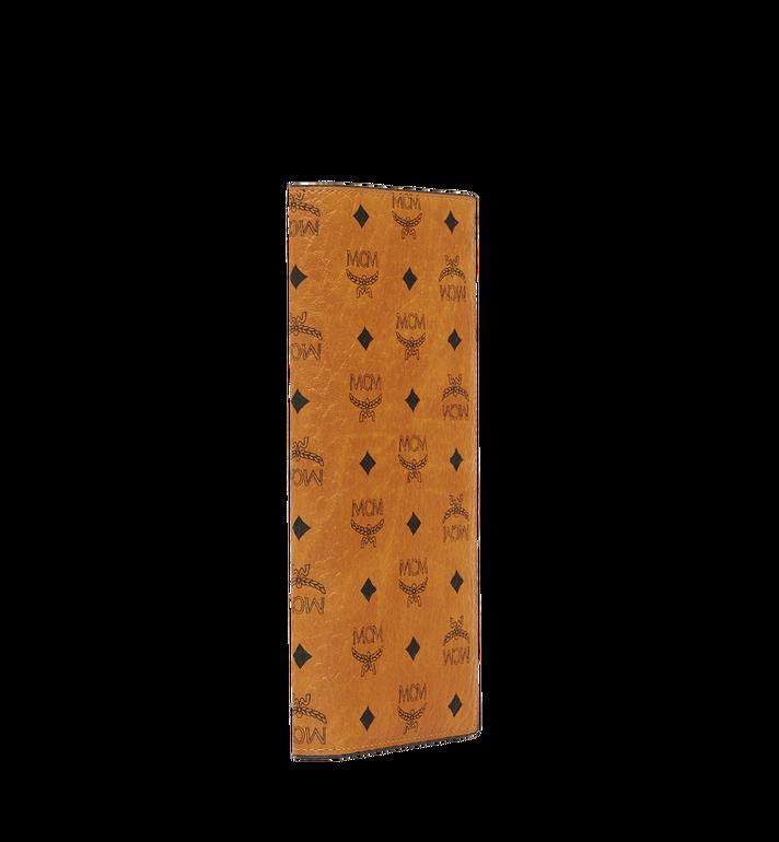 MCM Portefeuille long à deux volets en Visetos Original Cognac MXL8SVI70CO001 Alternate View 2