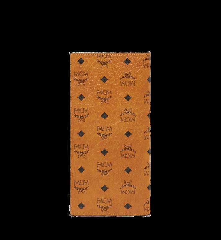 MCM กระเป๋าสตางค์พับสองทบแบบยาวลาย Visetos Original Cognac MXL8SVI70CO001 Alternate View 3