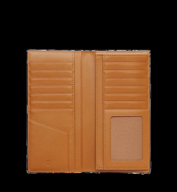 MCM Portefeuille long à deux volets en Visetos Original Cognac MXL8SVI70CO001 Alternate View 4