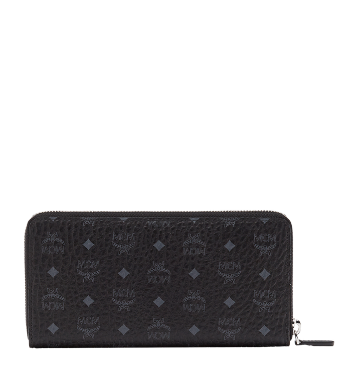 MCM Zip Around Wallet in Visetos Original Black MXL8SVI92BK001 Alternate View 3
