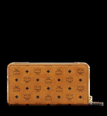 MCM Brieftasche mit Rundum-Reissverschluss in Visetos Original Cognac MXL8SVI92CO001 Alternate View 3