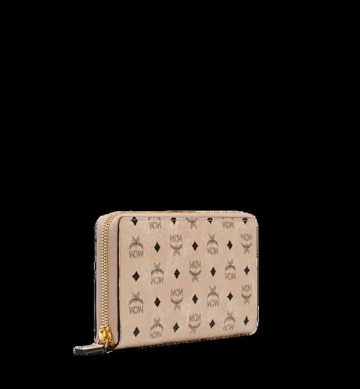 MCM Brieftasche mit Rundum-Reissverschluss in Visetos Original Beige MXL8SVI92IG001 Alternate View 2