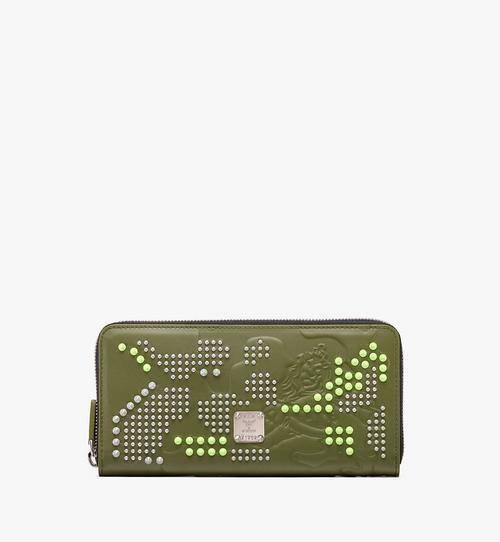 Zip Wallet in Studded Lion Camo