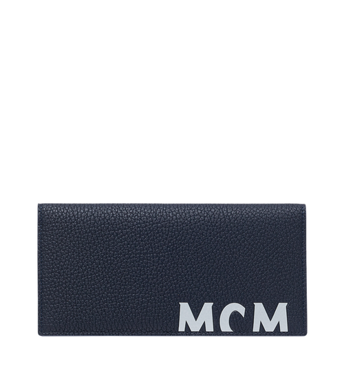 Two-Fold Wallet in Logo Print Leather