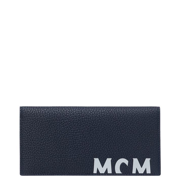MCM Two-Fold Wallet in Logo Print Leather Alternate View