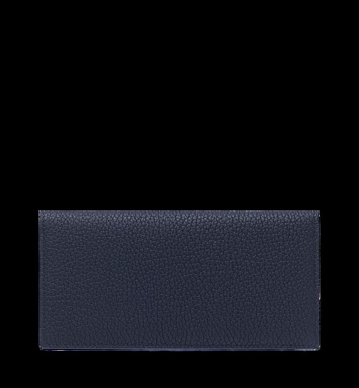 MCM Logo 印花皮革兩折式錢包 Navy MXL9SBM02VY001 Alternate View 3