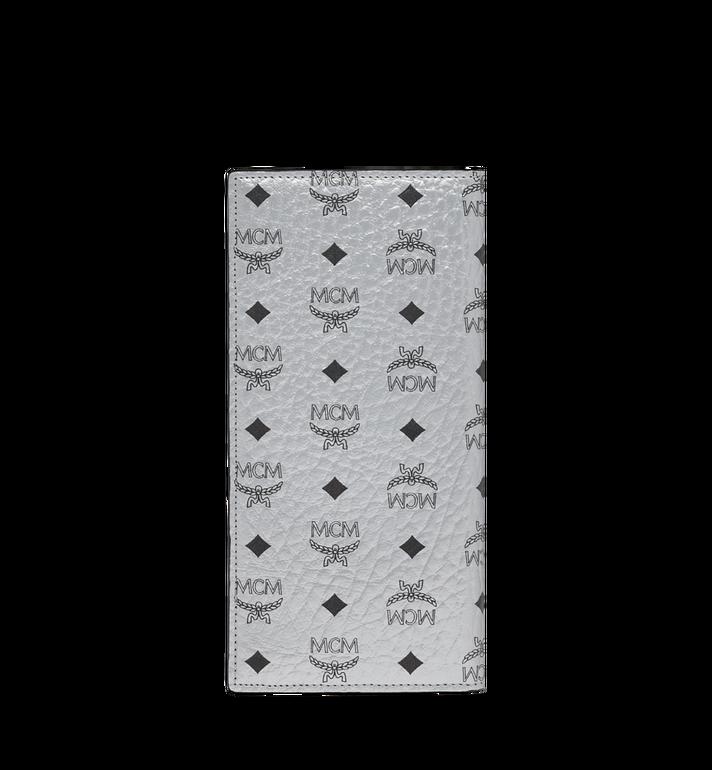 MCM Long Bifold Wallet in Visetos Original Silver MXL9SVI70SB001 Alternate View 3