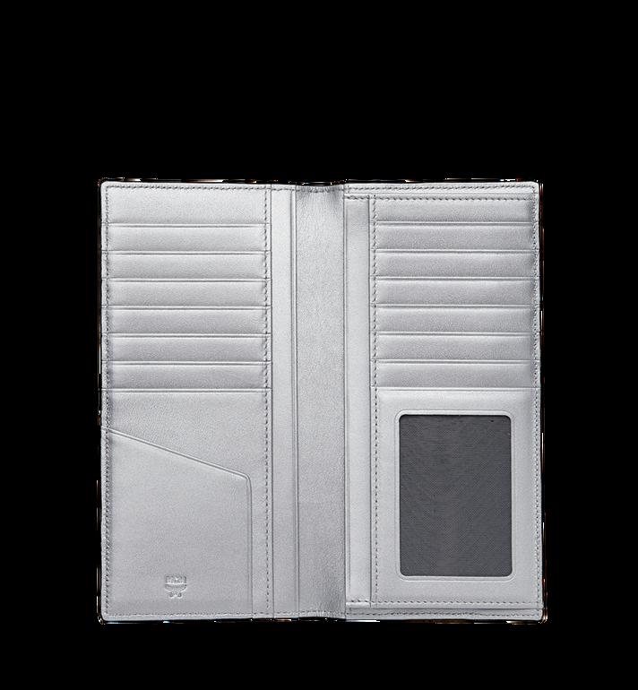 MCM Long Bifold Wallet in Visetos Original Silver MXL9SVI70SB001 Alternate View 4