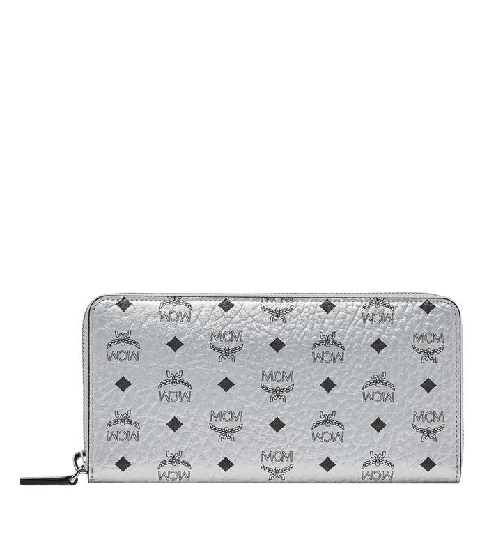 MCM Zip Around Wallet in Visetos Original Alternate View 1