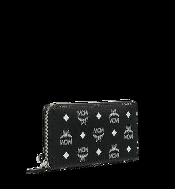 MCM Reissverschlussbrieftasche mit Handgelenksband und Visetos-Logo in Weiss Alternate View 2