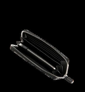 MCM Reissverschlussbrieftasche mit Handgelenksband und Visetos-Logo in Weiss Alternate View 4