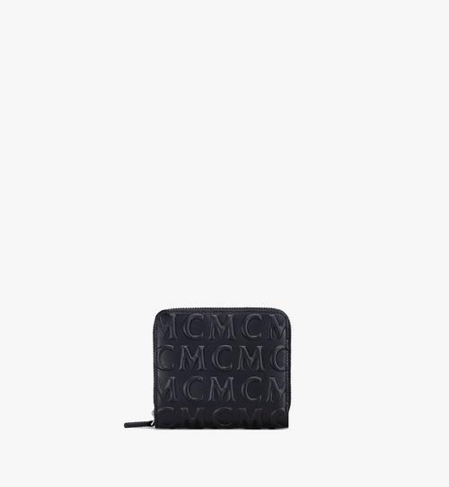 Portefeuille zippé en cuir monogrammé MCM