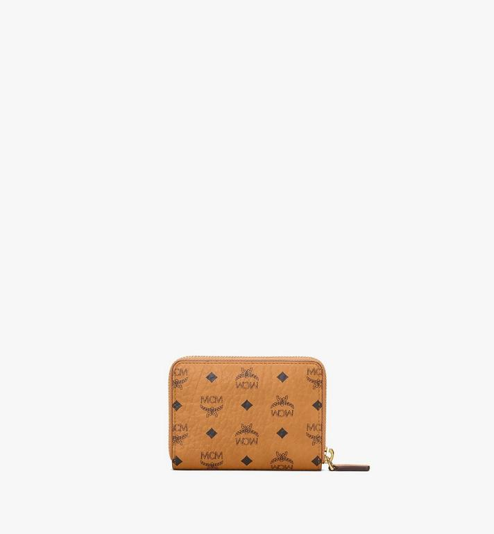 MCM Zip Around Wallet in Berlin Bear Visetos Cognac MXLAAVI04CO001 Alternate View 3