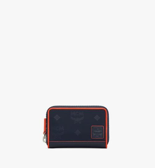 Klassik Brieftasche aus Nylon mit Reissverschluss und Monogramm