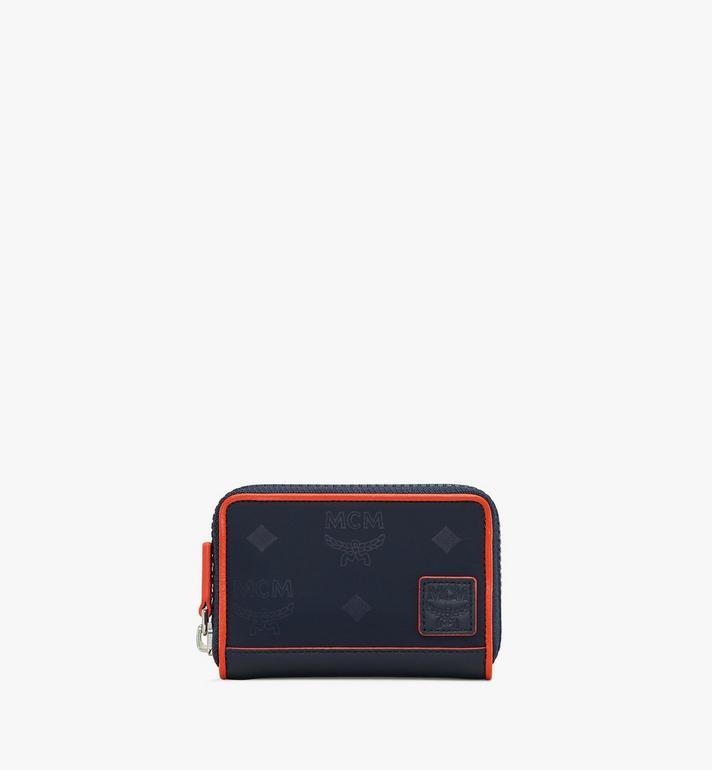 MCM Klassik Brieftasche aus Nylon mit Reissverschluss und Monogramm Alternate View