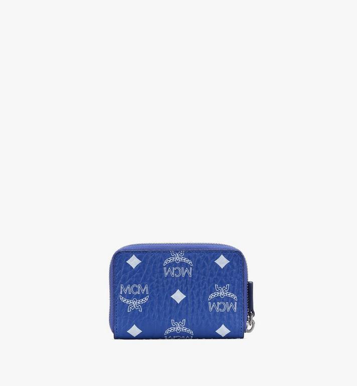 MCM Zip Card Wallet in Visetos Blue MXLASVI01H1001 Alternate View 2