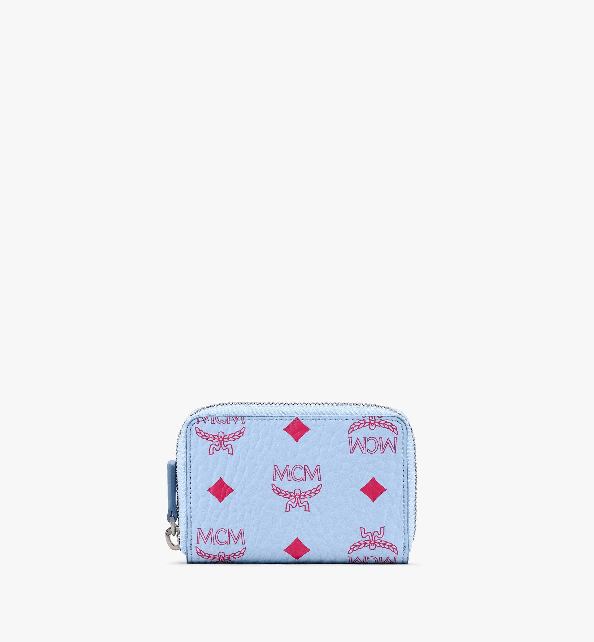 MCM Brieftasche in Visetos mit Kartenetui und Rundum-Reissverschluss Blue MXLASVI01H2001 Alternate View 1
