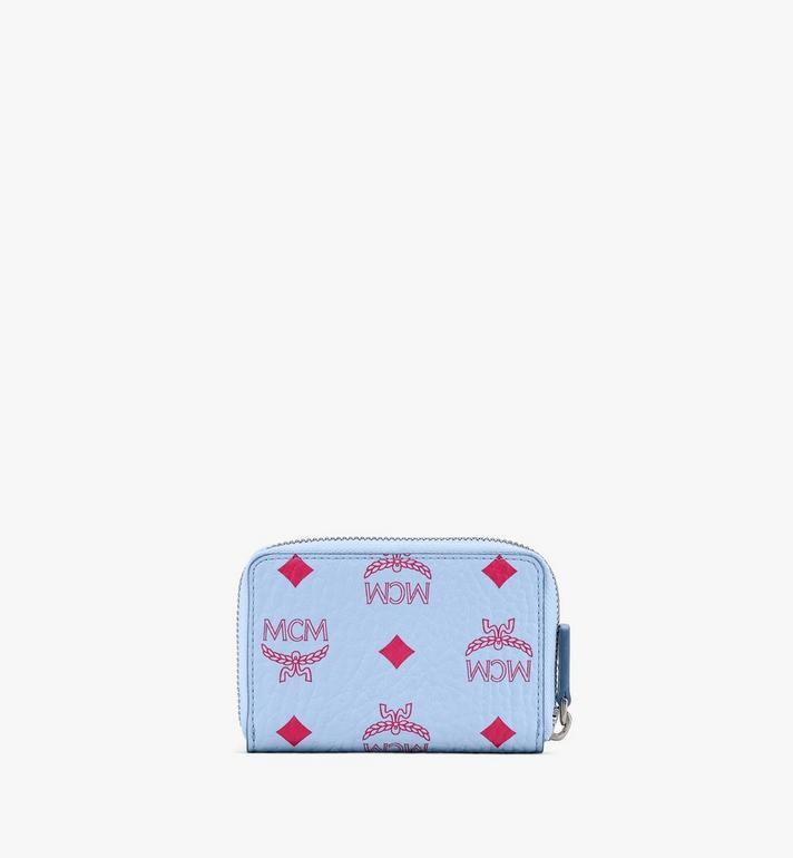 MCM Brieftasche in Visetos mit Kartenetui und Rundum-Reissverschluss Blue MXLASVI01H2001 Alternate View 2