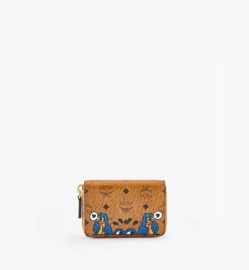 กระเป๋าสตางค์ใส่บัตรติดซิป MCM x Aka Boku ลาย Visetos Original