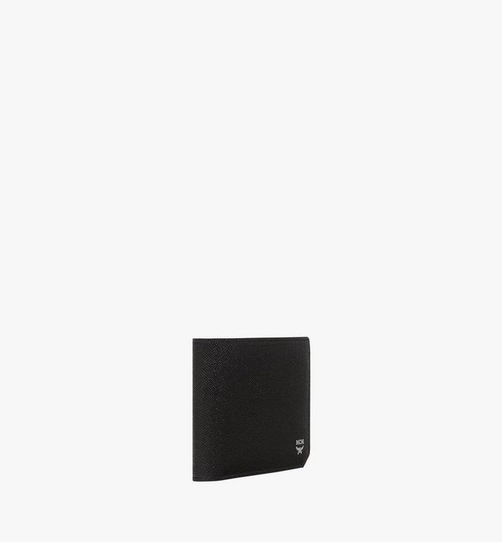 MCM กระเป๋าสตางค์พับสองทบ New Bric ทำจากหนังสลักลาย Black MXS8ALL42BK001 Alternate View 2
