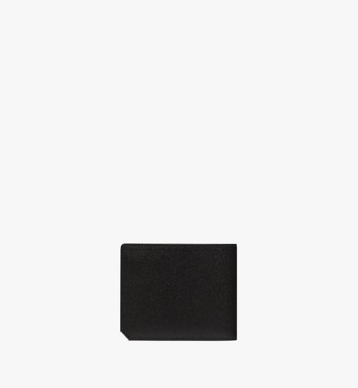 MCM กระเป๋าสตางค์พับสองทบ New Bric ทำจากหนังสลักลาย Black MXS8ALL42BK001 Alternate View 3