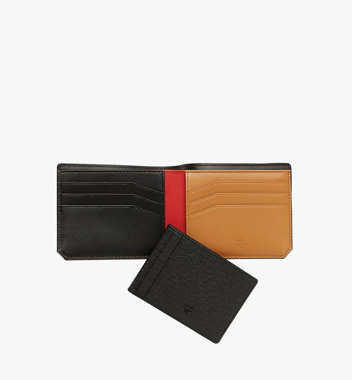 MCM New Bric Bifold with Card Case in Embossed Leather Black MXS8ALL42BK001 Alternate View 5