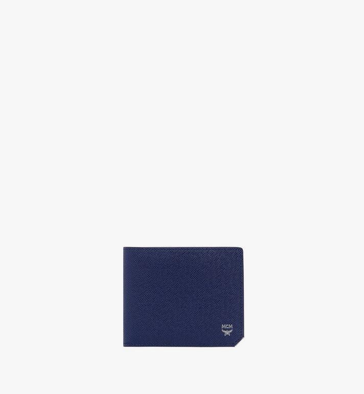 MCM New Bric 經典壓花皮革兩折式皮夾附卡夾 Alternate View