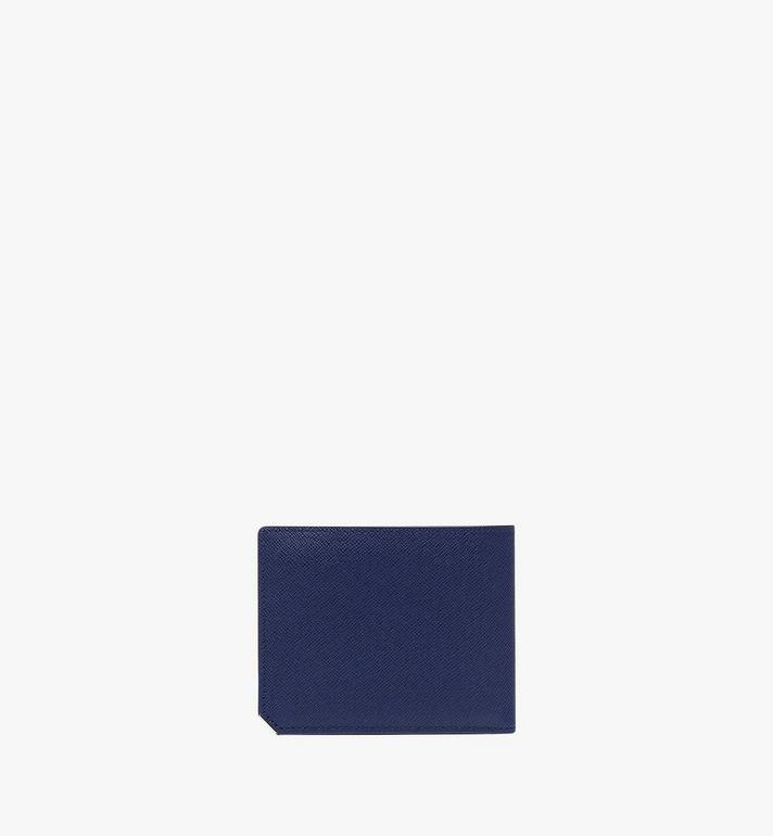 MCM New Bric Bifold with Card Case in Embossed Leather Navy MXS8ALL42VY001 Alternate View 3