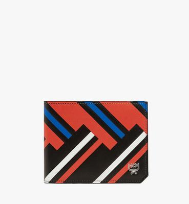 Coburg Bifold Wallet in Victory Print Leather